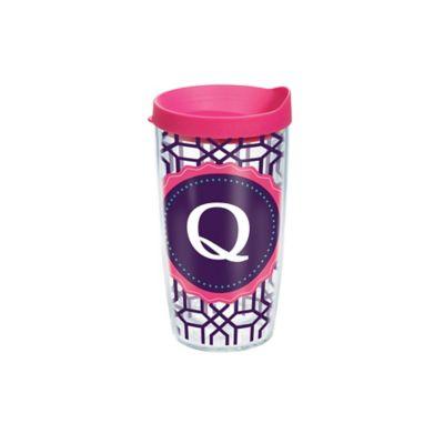 """Tervis® Octagon Monogram Initial """"Q"""" 16 oz. Tumbler"""