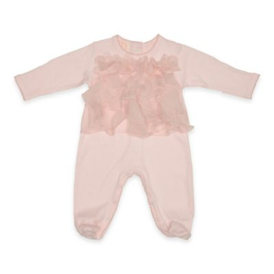 Baby Biscotti Size 3M Tulle Front Footie in Pink