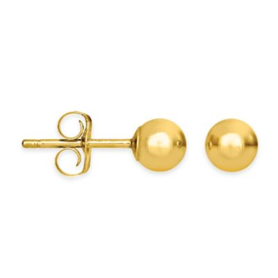 4mm 14K Yellow Gold Earrings