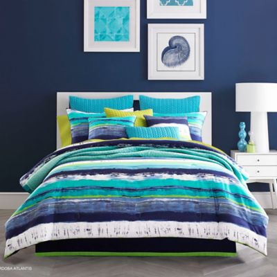 J by J. Queen New York Cordoba Twin Comforter Set in Teal