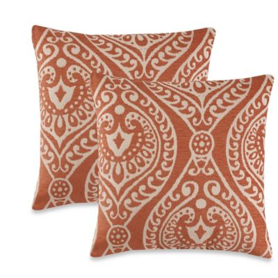 Giza Throw Pillow in Rust (Set of 2)