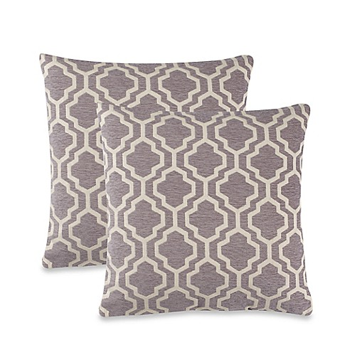 Lyssa Throw Pillow in Grey (Set of 2) - Bed Bath & Beyond