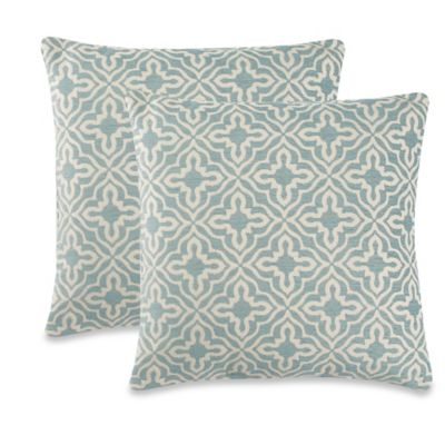 Knottingham Throw Pillow in Turquoise (Set of 2)