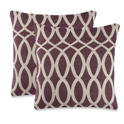 Harmonia Throw Pillow in Purple (Set of 2)
