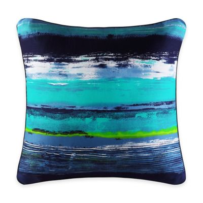 J by J. Queen New York Cordoba Square Throw Pillow in Teal