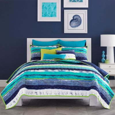 J by J. Queen New York Cordoba King Coverlet in Teal