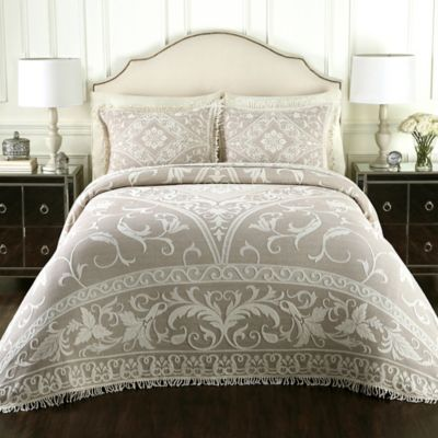 Lamont Home™ Gabriella Cotton Queen Jacquard Bedspread in Linen