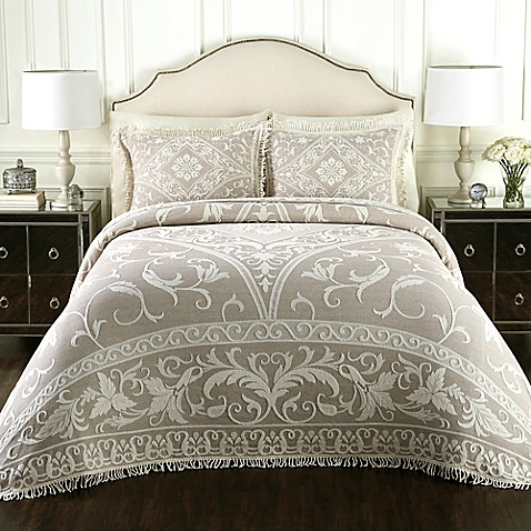 Bed Bath And Beyond Quilts Lamont Home™ Gabriella Cotton Jacquard Bedspread - Bed ...