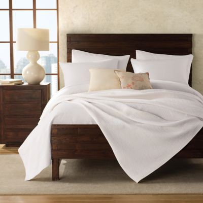 Lamont Home® London Cotton Twin Coverlet in White
