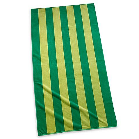 cabana stripe 30 quot x 60 quot beach towel bed bath beyond