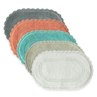 Jessica Simpson 21-Inch x 34-Inch Carlin Reversible Bath Rug in Coral