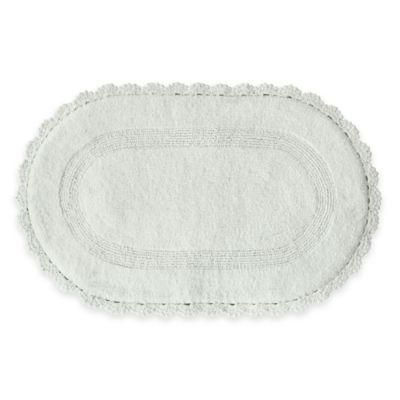 Jessica Simpson 21-Inch x 34-Inch Carlin Reversible Bath Rug in White