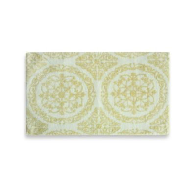 Jessica Simpson 21-Inch x 34-Inch Ornamental Bath Rug in Apricot