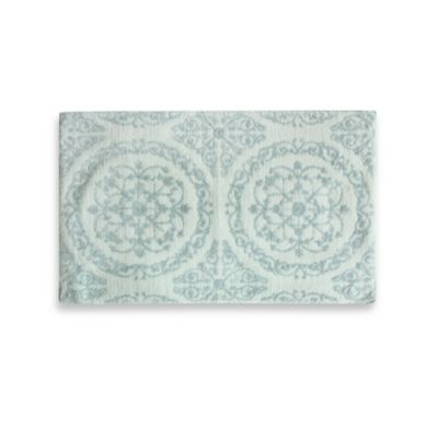 Jessica Simpson 21-Inch x 34-Inch Ornamental Bath Rug in Blue