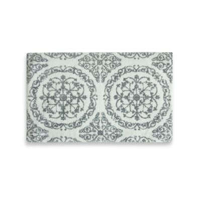 Jessica Simpson 21-Inch x 34-Inch Ornamental Bath Rug in Grey