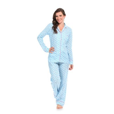 Molly Large Women's 2-Piece Pajama Pant Set in Blue