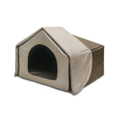 4-in-1 Convertible Pet Bed House in Charcoal