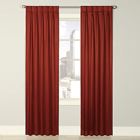 Splendor Grommet Glide Pinch Pleat Lined Window Curtain