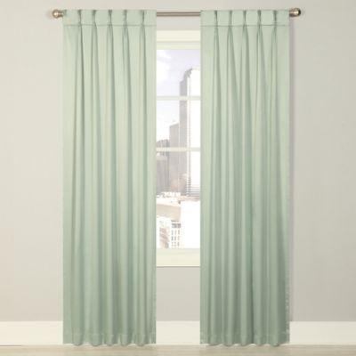 Splendor 84-Inch Grommet Glide Pinch Pleat Lined Window Curtain Panel in Spa