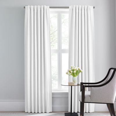Barbara Barry Modern Drape Rod Pocket/Back Tab 120-Inch Window Curtain Panel in Pure