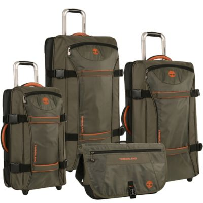 Timberland® Twin Mountain 4-Piece Wheeled Duffle Set in Burnt Olive/Burnt Orange