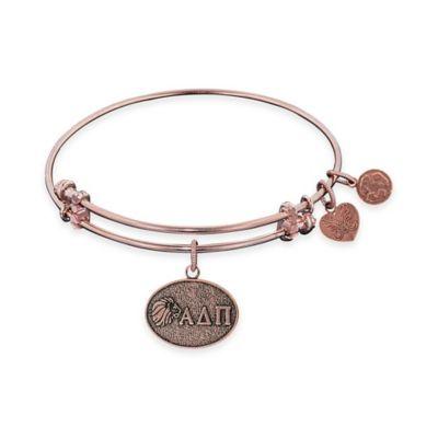 Angelica Collection Rose Goldtone Alpha Delta Pi Sorority Charm Bangle Bracelet
