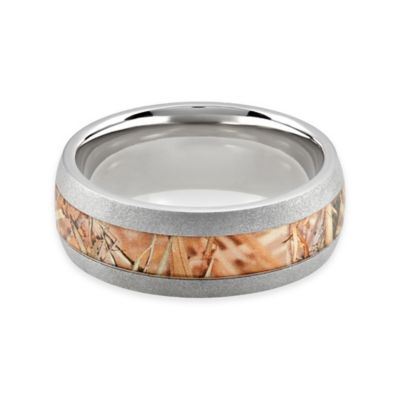 Lashbrook® Titanium King's Field Camo Size 9.5 Men's Domed Ring