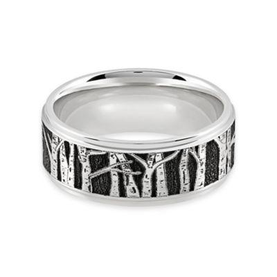 Lashbrook® Cobalt Chrome Aspen Trees Size 6.5 Ladies' Ring