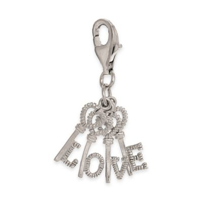 "Personality Sterling Silver ""Love"" Key Charm"