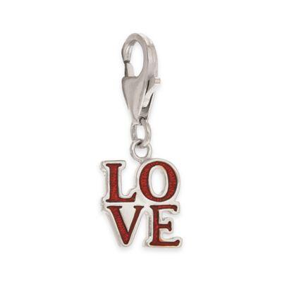 "Personality Sterling Silver Enamel ""Love"" Charm"