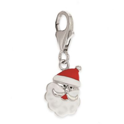 Personality Sterling Silver Enamel Santa Charm