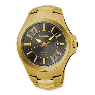Seiko Coutura Men's Solar Dress Watch in Gold-Tone Stainless Steel