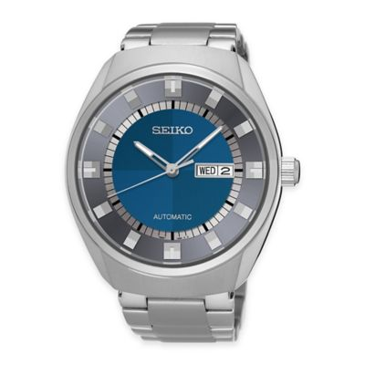 Seiko Recraft Men's 44mm Blue Dial Automatic Watch in Stainless Steel