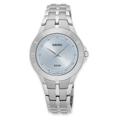Seiko Recraft Series Ladies' Solar Bracelet Watch in Stainless Steel with Silver Dial