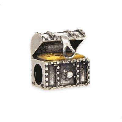 Personality Sterling Silver Treasure Chest Bead Charm