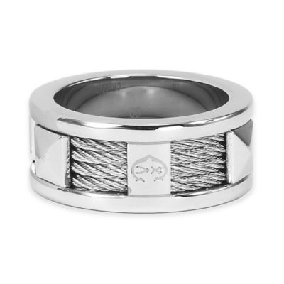 Charriol Stainless Steel and Cable Size 7.5 Ladies' Forever Ring