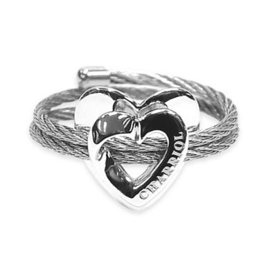 Charriol Stainless Steel Cable Size Ladies' Adjustable 100 Ways to Love Ring