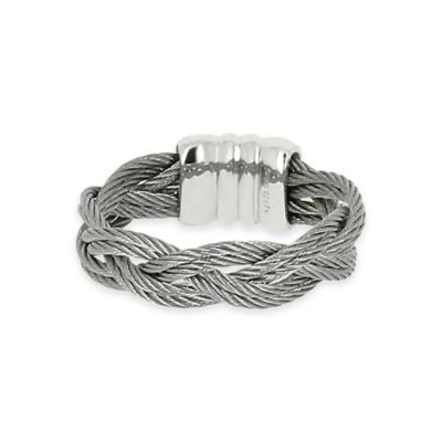 Charriol Stainless Steel Cable Size 6 Ladies' Braided Ring