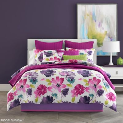 J by J. Queen New York Midori King Comforter Set in Fuchsia