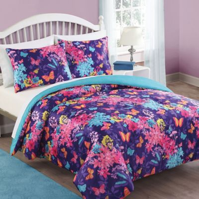 Bella Butterfly 3-Piece Full/Queen Comforter Set