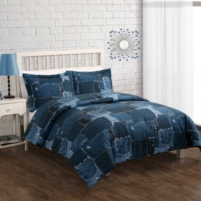 Twin Denim Comforter Set