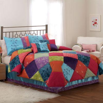 Kashmere Gem 2-Piece Twin Comforter Set in Blue
