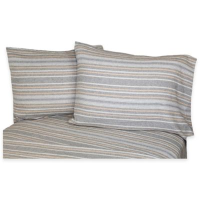 Belle Epoque La Rochelle Collection Herringbone Heathered Flannel California King Sheet Set
