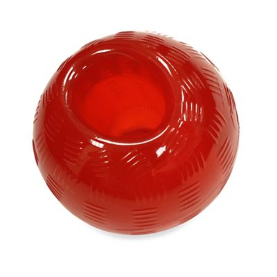 Play Strong Medium Rubber Ball Dog Toy in Red