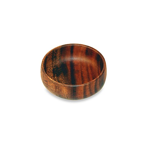 Acacia Wood 4-Inch Round Dipping/Nut Bowl