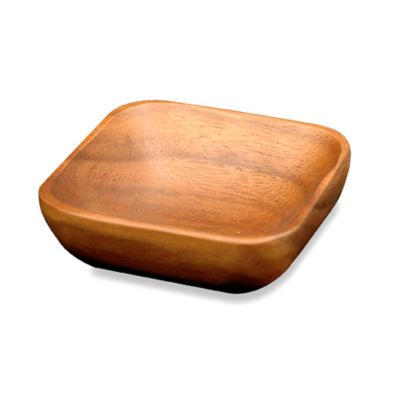 Acacia Wood 4-Inch Square Dipping Bowl