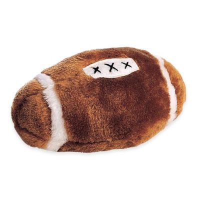 Plush Football Squeaker Dog Toy in Brown