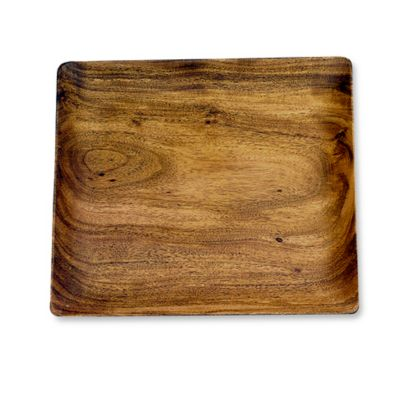 Acacia Wood 12-Inch Square Serving Plate