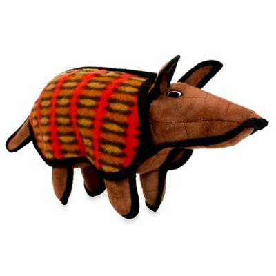 Tuffy® Armadillo Dog Toy in Red/Brown