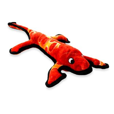 Tuffy® Lizard Squeaker Dog Toy in Red/Orange